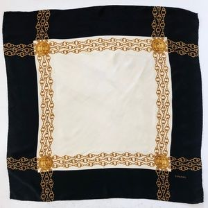 """VINTAGE CHANEL SQUARE SCARF 33""""x33.5"""""""